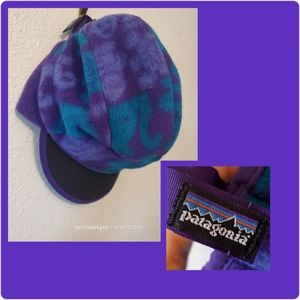Vintage Rare Gargoyle Print Synchilla Fleece Hat L